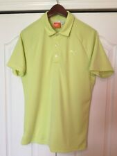PUMA GOLF POLO SHIRT MENS SMALL-S -SOLID NEON LIME GREEN -RICKIE FOWLER