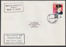 BR ANTARCTIC TERRITORY 1979 cover Royal Research Ship BRANSFIELD cachet.....T220