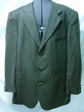 Mens Blue Brown 3 Button 100% Lambs Wool Blazer Jacket Size 46 L Bert Pulitzer