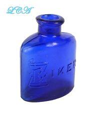 Antique RIKER bottle Rx COBALT BLUE apothecary pharmacy drug store POISON bottle