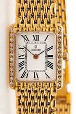 Estate $12,000 .50ct VS F Diamond CONCORD Ladies Midsize 18k Gold Dress Watch