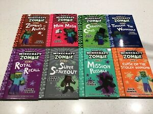 19-27 BOOKS DIARY OF A MINECRAFT ZOMBIE ,TOTAL NINE BOOKS NEW, ZACK ZOMBIE  bar