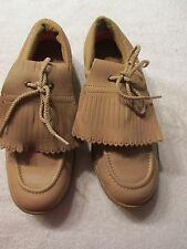 Beautiful Brown Leather Women's Golf Shoes Size 7 By Ray Floyd Usa Made