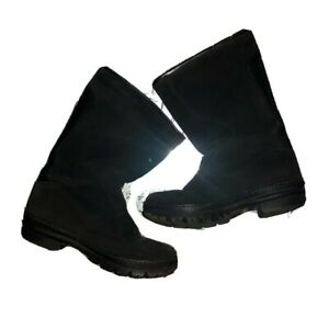 KEEN Willamette Black Suede & Rubber Boots Winter Snow Rainboots Women 9.5