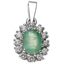 Smaragd Echtschmuck-Halsketten & -Anhänger mit Smaragd-Schliffform für Damen