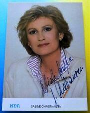 Sabine CHRISTIANSEN - NDR TV Sender - Karte mit Original Autogramm - Super !!!