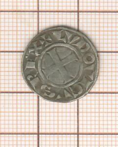 Louis VIII 1223-1226 joli Denier tournois TURONIS CIVI qualité agréable