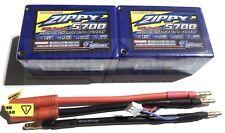 Zippy 5700mAh 2s 7.4v 25c 35c Saddle Pack LiPo - Free Deans HPI EC3 Turnigy 6000