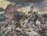Grande étude du tableau Le radeau de la Méduse. Aquarelle. French painting.