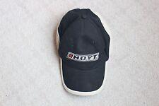 Hoyt Baseball Cap Hat Black Tan White Adjustable