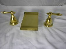 PVD Gold Waterfall Allbrass Sink Faucets Free Ship Everything Included Match Tub