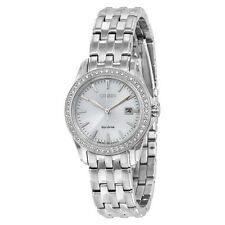 Citizen Silhouette Crystal Silver Dial Ladies Watch EW1901-58A