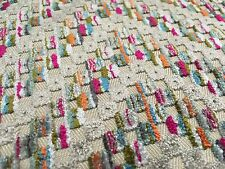 Romo Multi-Color Cut Velvet Chevron Upholstery Fabric Ortiz Multi 2.1 yd 7767/07