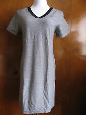 Lacoste Gray Striped  Stretch Dress Made in France New