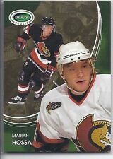 2003-04 PARKHURST ROOKIE MARIAN HOSSA BASE CARD 20 IN THE GAME ITG SENATORS
