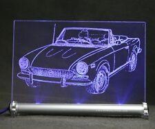FIAT 124 SPIDER come auto incisione su lastra di LED