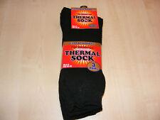 3 Paar Herren schwarz extra warm Thermo Socken 6 - 11 NEU
