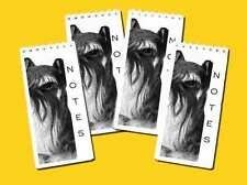 Miniature Schnauzer Dog Small Slim Note Pads pack of 4, Gift Set