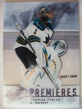 2007-08 UPPER DECK ICE THOMAS GREISS # 141 , SHARKS !!! BOX 7