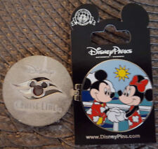 Disney Line Dcl Pin Hinged Live To Cruise Mickey and Minnie Mouse New On Card Oe