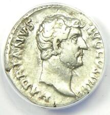 Roman Hadrian AR Denarius Silver Coin 117-138 AD - Certified ANACS VF30