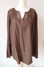 Ladies Long Tall Sally Kaftan Tunic Top Size 18 Embroidered B16
