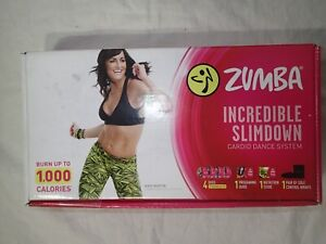 Zumba Incredible Slimdown Cardio Dance System 4 DVD plus extras New