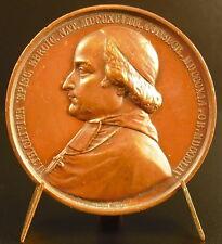 Medaille à Nicolas-Théodore Olivier Evêque d'Evreux Borrel 1860 armes et blason
