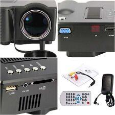 UC28+ Mini FullHD 1080P LED BEAMER USB/AV/SD/VGA/HDMI Projektor Heimkino HS