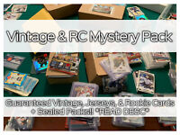 NEW MYSTERY NHL HOCKEY CARDS PACK! Vintage, RC's, & Packs- GUARANTEED JERSEY!!!