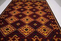 9'6 x 6'5 Vintage Handmade Afghan Tribal Kelim Carpet Wool Kilim Area Rug #6643