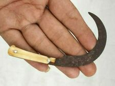 Rare 1800's Old Antique Iron Hand Forged Unique Shape Miniature Dagger Knife
