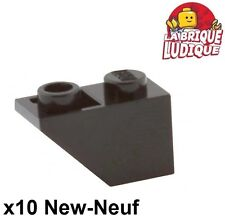 Lego - 10x slope inverted pente inversée 45 2x1 noir/black 3665 NEUF