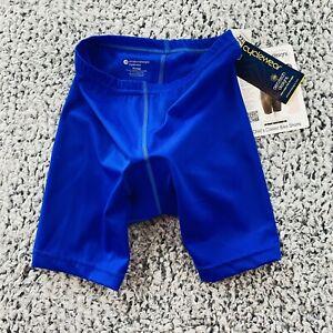 NWT Aero Tech Designs Childs XL Classic Bike Shorts Padded Cycling Shorts Blue