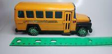 "Vintage 1980 6"" BUDDY L STEEL YELLOW SCHOOL BUS Made in Japan - Opening Door"