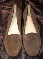 Womens J. Jill Loafer Shoes J Jill Brown Leather Suede Size 7M Excellent