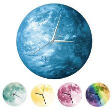 12'' 3D Luminos Moon Wall Clock Romantic Glow In The Dark Moonlight Clocks Decor