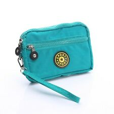 Aqua Zipper Bag Purse Wallet Pouch Case for Motorola Moto G5 / Moto M / Z2 Play