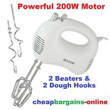 MAXIM HAND MIXER BEATER WITH DOUGH HOOKS 5 SPEED 200W HAND KITCHENPRO APPLIANCES