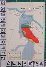 WW2 MAP BATTLE OF EL ALAMEIN BREAK-IN & DOG FIGHT GAINS MINEFIELDS KIDNEY RIDGE