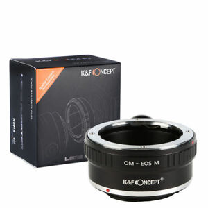 K&F Concept  Adapter with tripod Olympus OM Mount Lens to Canon EOS M Camera