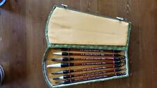 7 Chinese Japanese Calligraphy Brush Ink Pens Writing Painting Tool in Case