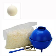 "Sphere 3"" Candle Making Set, 1 Mould, 200g Paraffin Wax, Wick Holder, Wick S7820"