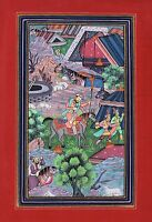 Mughal Empire Miniature Painting Rare Handmade Moghul Period Modern Indian Art