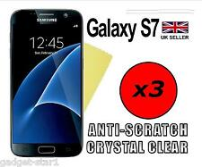 3x HQ CRYSTAL CLEAR HD SCREEN PROTECTOR COVER FILM GUARD FOR SAMSUNG GALAXY S7