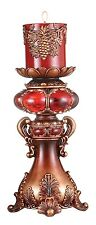 """New Ruby Candleholder 12.0"""" with candle"""