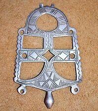 Antique Nomadic Tuareg Tribal Ethnic Silver Cross Amulet Pendant - Niger, Africa