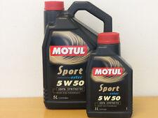 9,63€/l Motul Sport 5W50 6 Ltr  Motorenöl für sportl. PKW