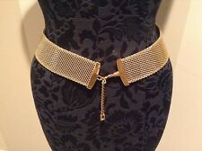 """ST JOHN COLLECTION BY MARIE GRAY...BELT...33"""" with 4"""" EXTENDER CHAIN...GOLD TONE"""