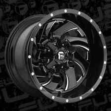 Fuel Cleaver 20x12 8x6.5 ET-44 Black Milled Wheels (Set of 4)